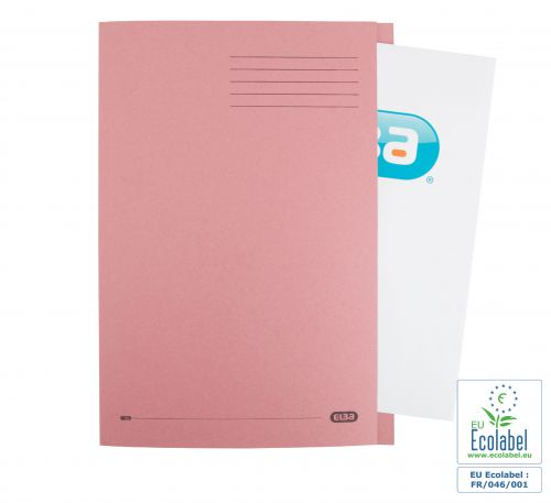 Elba Foolscap Square Cut Folder Recycled Mediumweigh 285gsm Manilla Pink Ref 100090221 [Pack 100]