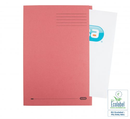 Elba Foolscap Square Cut Folder Recycled Mediumweight 285gsm Manilla Red Ref 100090222 [Pack 100]