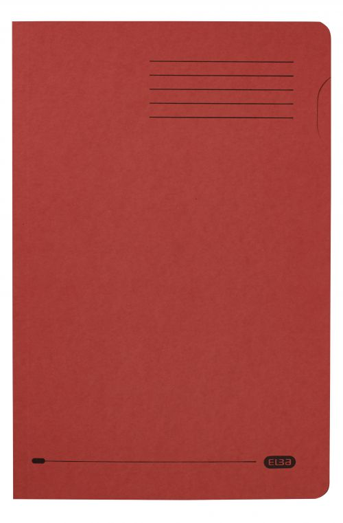 Elba Foolscap Square Cut Folder Recycled Mediumweight 285gsm Manilla Red Ref 100090222 [Pack 100]