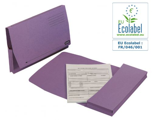 Elba Document Wallet Full Flap 285gsm Capacity 32mm Foolscap Mauve Ref 100090253 [Pack 50]