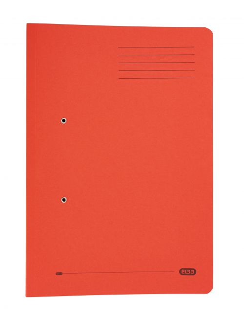 Elba StrongLine Transfer Spring File Recycled 320gsm Foolscap Red Ref 100090278 [Pack 25] [REDEMPTION]