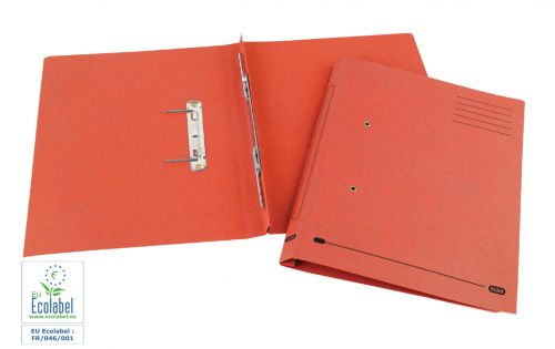 Elba Spirosort Transfer Spring File Recycled Mediumweight 285gsm Foolscap Red Ref 100090288 [Pack 25]