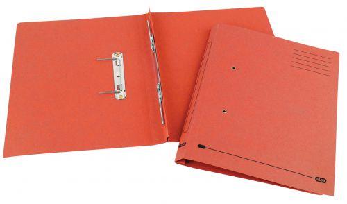 Elba Spirosort Transfer Spring File Recycled Mediumweight 285gsm Foolscap Red Ref 100090288 [Pack 25]