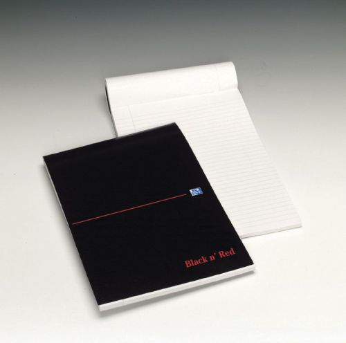 Black n Red Executive Refill Pad Headbound 90gsm Ruled Margin 100pp A4 Ref 100100861 [Pack 10]