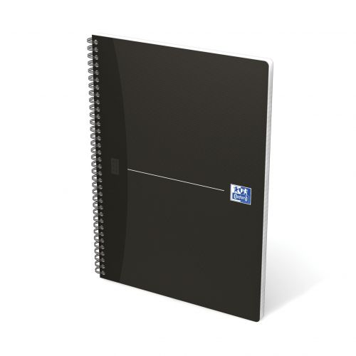 Oxford Office Notebook Wirebound Soft Cover 90gsm Smart Ruled 180pp A4 Black Ref 100102931 [Pack 5]