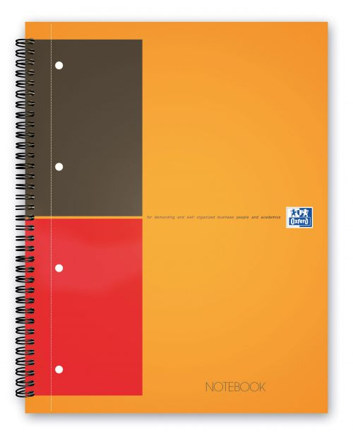 Oxford Int Classic Nbk Wirebound 80gsm Smart Ruled Perf Punched 4 Holes 160pp A4+ Ref 100104036 [Pack 5]