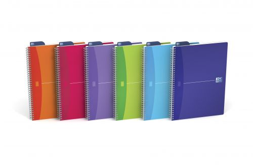 Oxford A4 Wirebound Polypropylene Notebook (Pack 5)