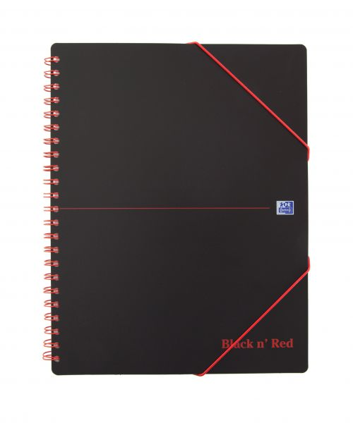 Black n' Red Wirebound Polypropylene Meeting Book 160 Pages A4+ (Pack of 5) 100104323