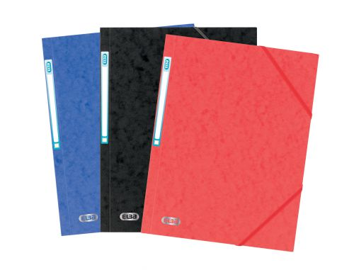 Oxford Folder Elasticated 3-Flap 450gsm A4 Assorted Ref 400114319 [Pack 10]