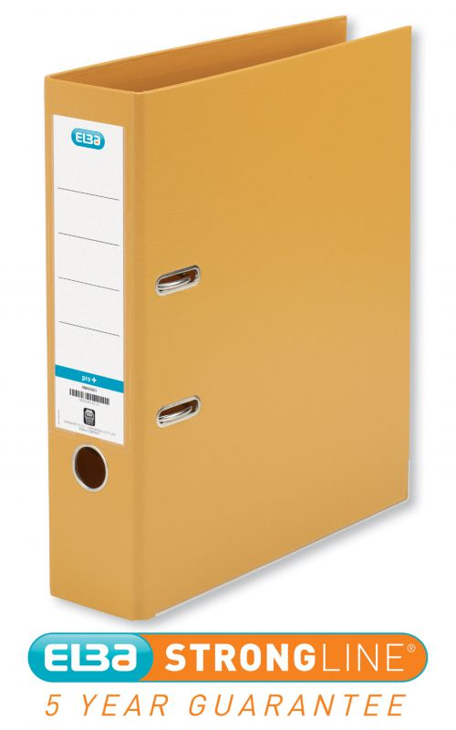 Elba Lever Arch File PP 70mm Spine A4 Orange Ref 100202170 [Pack 10]