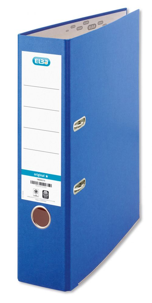 Elba Board Lever Arch File Blue A4 (Pack 10)