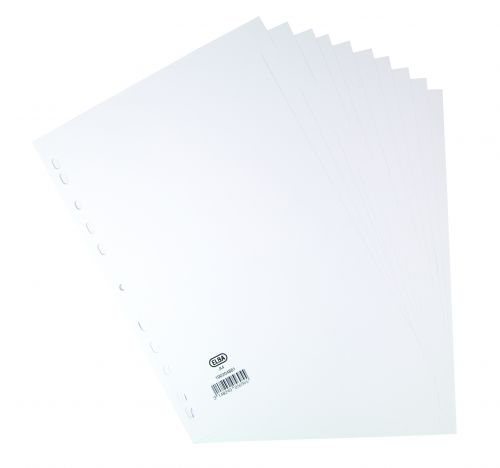 Elba Card Dividers 10 Part A4 White 100204881
