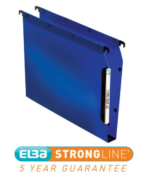 Elba Ultimate Polypro Linking Lateral File Polypropylene 30mm Wide-base A4 Blue Ref 100330584 [Pack 25]