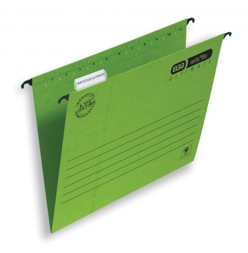 Elba Verticflex Ultimate Suspension File A4 Green (25) 100331150