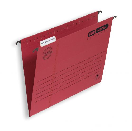 Elba Verticflex Ultimate Suspension File Manilla 15mm V-base 240gsm A4 Red Ref 100331154 [Pack 25]