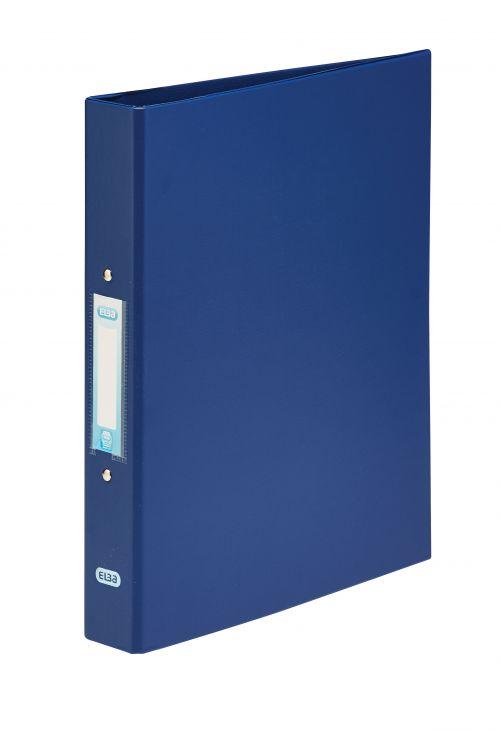 Elba Ring Binder PVC 2 O-Ring Size 25mm A4 Blue Ref 400001508 [Pack 10]