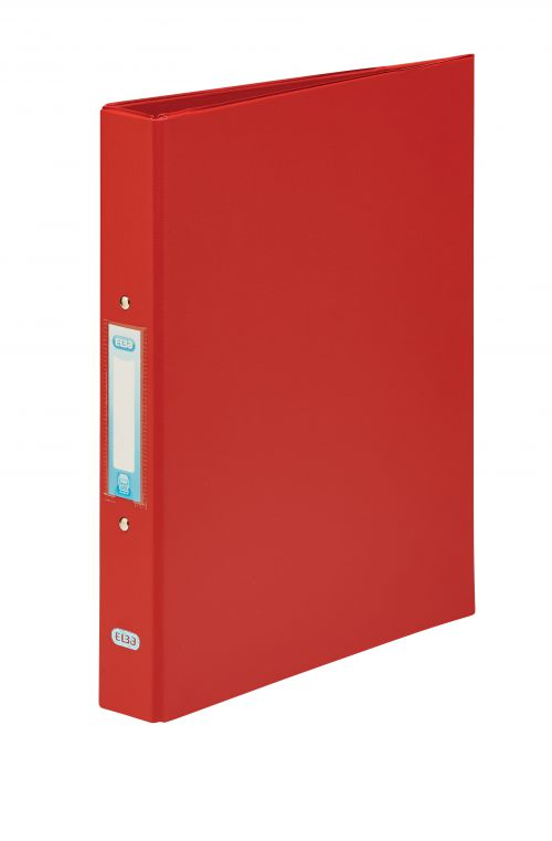 Elba Red A4 2 Ring Binder 25mm (Pack of 10) 400001511