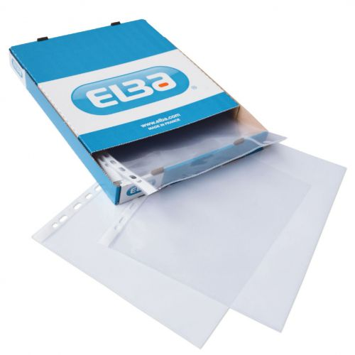Oxford Pchd Pocket Polypropylene Top-opening 70 Micron A4 Gls Clear Ref 400005371 [Pack 100]