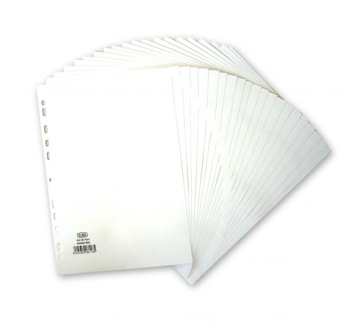 Elba Card Dividers 20 Part A4 White 400007500