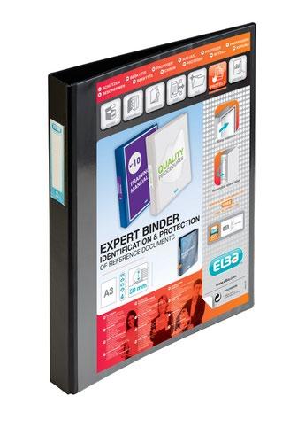 Elba Vision Ring Binder A3 Portrait 33mm Spine 4D Ring Black 400009729