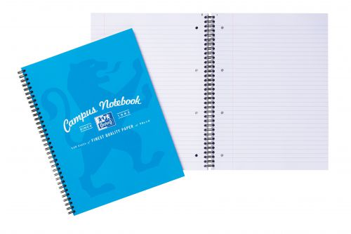 Campus Project Book Laminated Card Cover Wirebound 140 Pages 4 Hole 90gsm A4Plus Ref 400013920 [Pack 5]