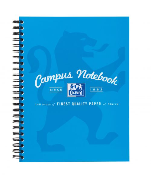 Oxford Campus Nbk Wbnd 90gsm Ruled Margin Perf Punched 2 Holes 140pp A5+ Assorted Ref 400013922 [Pack 5]