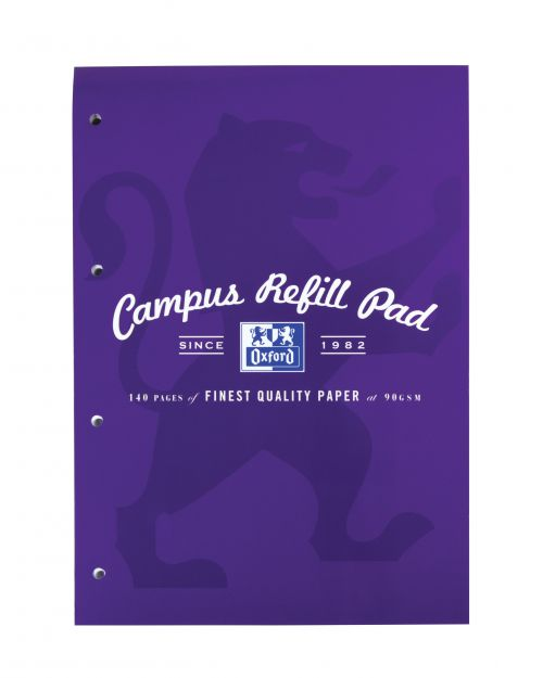 Campus Refill Pad Laminated Card Cover Headbound 120 Pages 90gsm A4 Ref 400013925 [Pack 5]