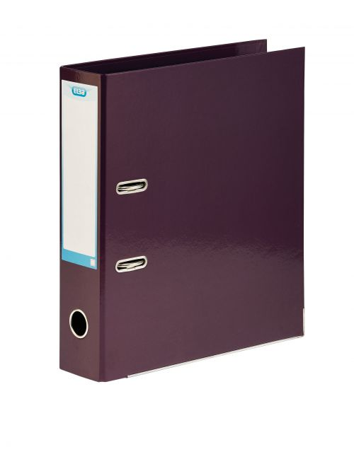 Elba Classy 70mm Lever Arch File A4 Metallic Purple 400021021