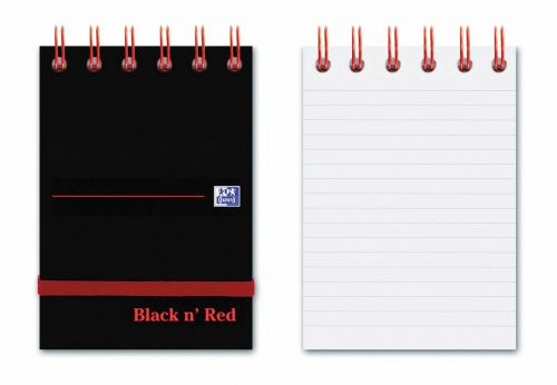 Black N Red A7 Reporters Notebook 140 Page PK5