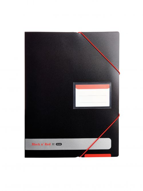 Elba Black n Red Display Book 20 Pocket A4 400050725