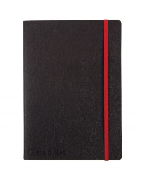 Black By Black n Red Business Journal Soft Cover Ruled and Numbered 144pp A5 Ref 400051204 [PRICE OFFER]