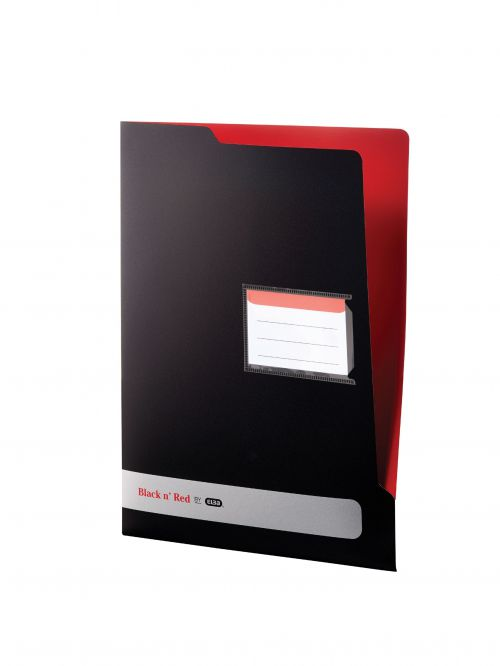 Black n Red by Elba L Folder Polypropylene A4 Ref 400051533 [Pack 5]