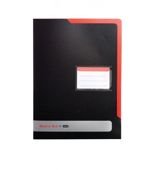 Black n Red L Folder A4 Pk5