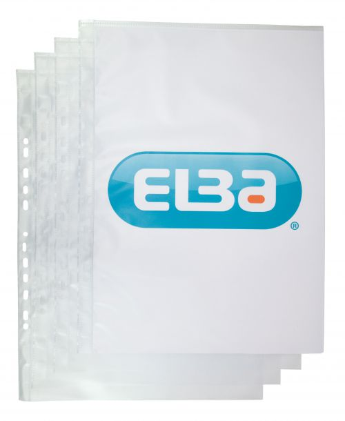 Elba Premium Pocket Polypropylene Top-opening 120 Microns A3 Portrait Clear Ref 400005480 [Pack 25]