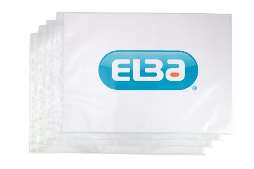 Elba Premium Pocket Polypropylene Top-opening 120 Microns A3 Landscape Clear Ref 400005481 [Pack 25]