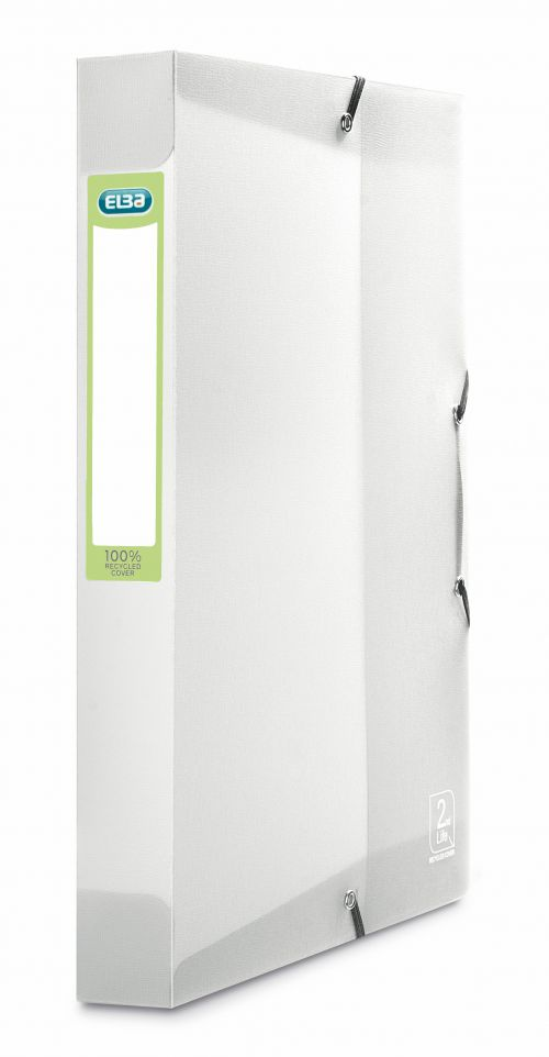 Elba 2nd Life Box File A4 Clear (40mm Spine, 400 Sheet Capacity)
