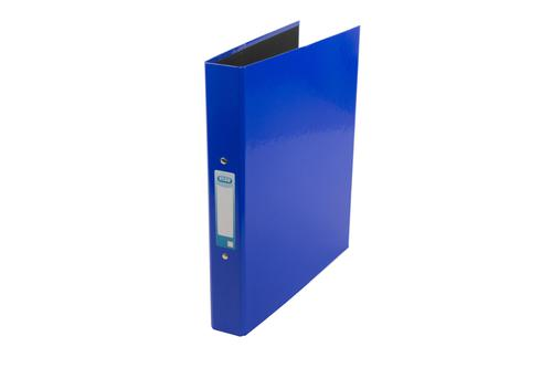 Elba Ring Binder A4 Laminated Paper On Board 30mm Spine 25mm Capacity 2 O-Ring Blue 400107358