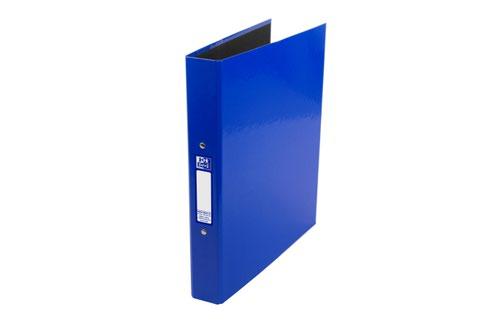 Elba Ring Binder Laminated Gloss Finish 2 O-Ring 25mm Size A4+ Blue Ref 400017754