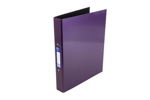 Elba Ring Binder Laminated Gloss Finish 2 O-Ring 25mm A4+ Metallic Purple Ref 400017758