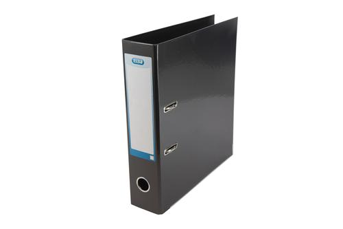 Elba Lever Arch File Laminated Gloss Finish 70mm Capacity A4+ Black Ref 400020889