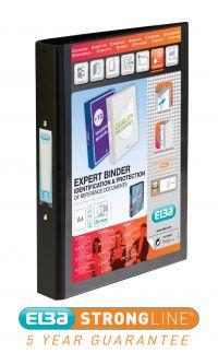 ELBA VISION A4 25MM BLACK 2-RING BINDER
