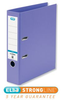 ELBA 70MM LEVER ARCH FILE PVC A4 PURPLE