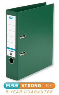 Elba Lever Arch File PVC A4 Upright 70mm Green 100202174
