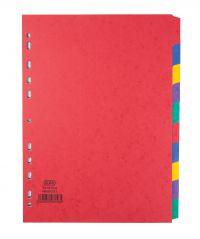 Elba 10-Part Pressboard Divider Heavyweight A4 Bright Multi 400007513