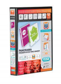 ELBA PANORAMA 2D RING BINDER A4 BLK P6