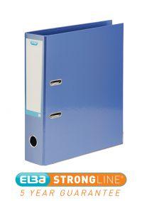 Elba Lever Arch File Laminated Gloss Finish 70mm Capacity A4+ Metallic Blue Ref 400021023