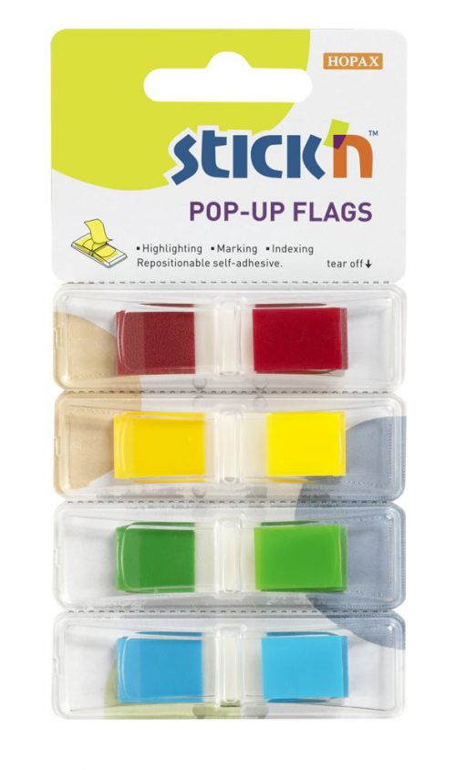 ValueX Index Flags Repositionable 12x45mm 4x35 Tabs Assorted Colours (Pack 140) 26020