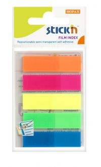 Value Stickn Film Indexes 12mm 124 Tabs Neon Colours 21050