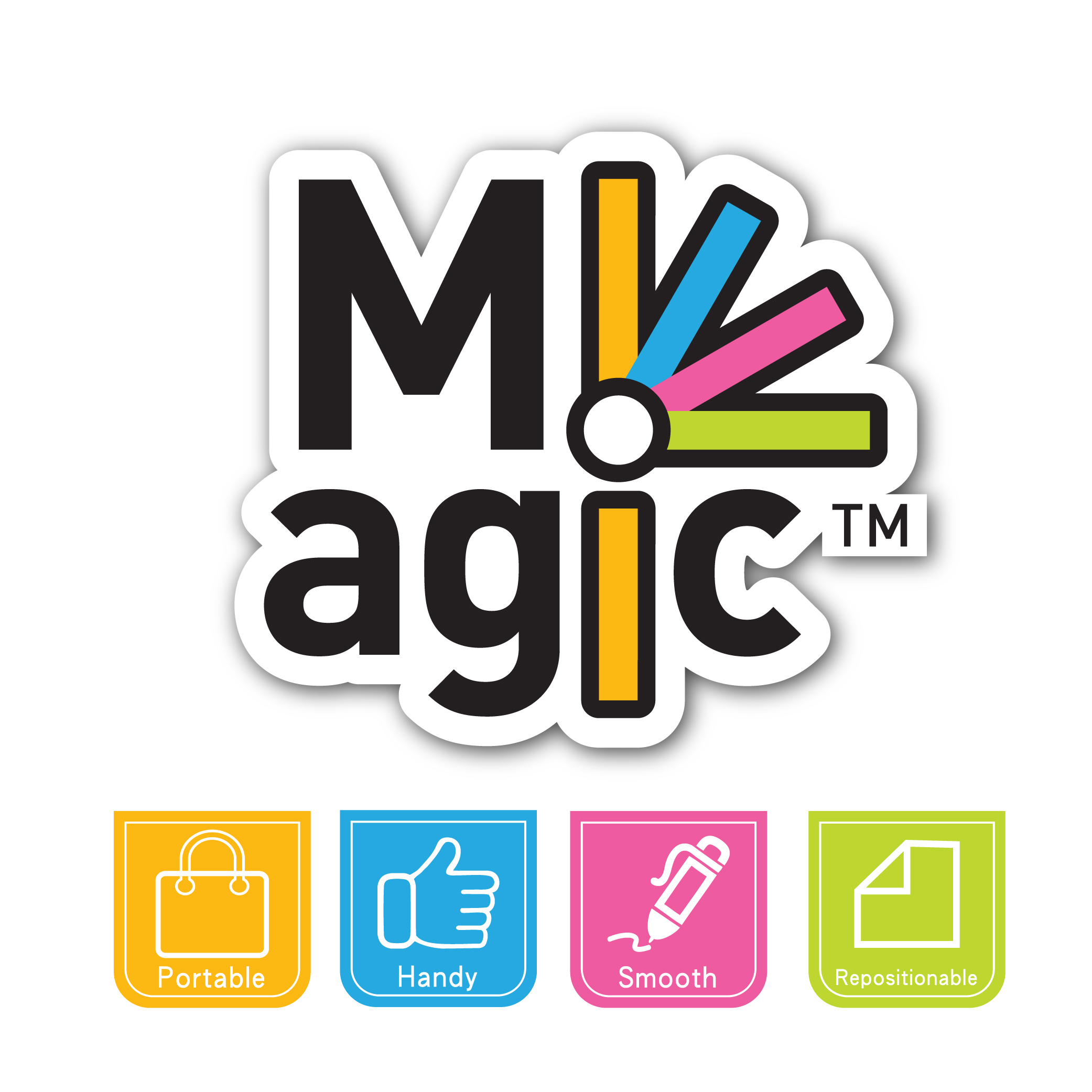 Coloured Stickn Magic Sticky Notes 76x76mm Ruled 100 Sheets Pastel Colours (Pack 12)