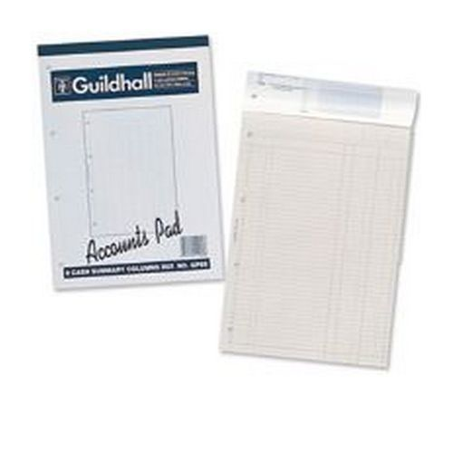 Guildhall Account Pad 8 Cash Column A4